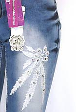 Жіночі джинси з аплікацією і стразами, фото 3