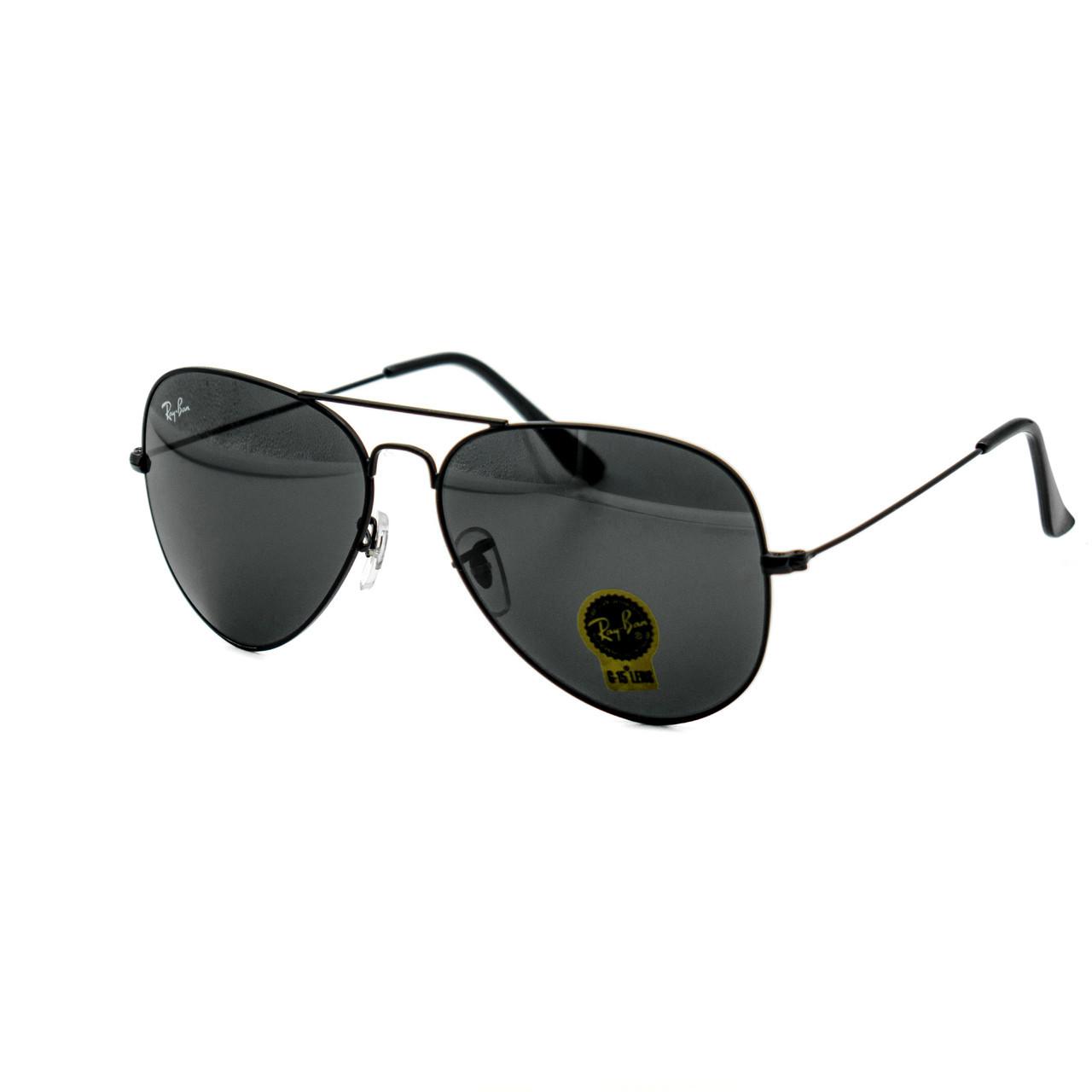 Очки Ray Ban Aviator Carbon черные (replica)
