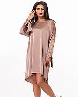 / Размер 48-50, 52-54, 56-58 / большие размеры / Женское платье из шелка свободного кроя 27719