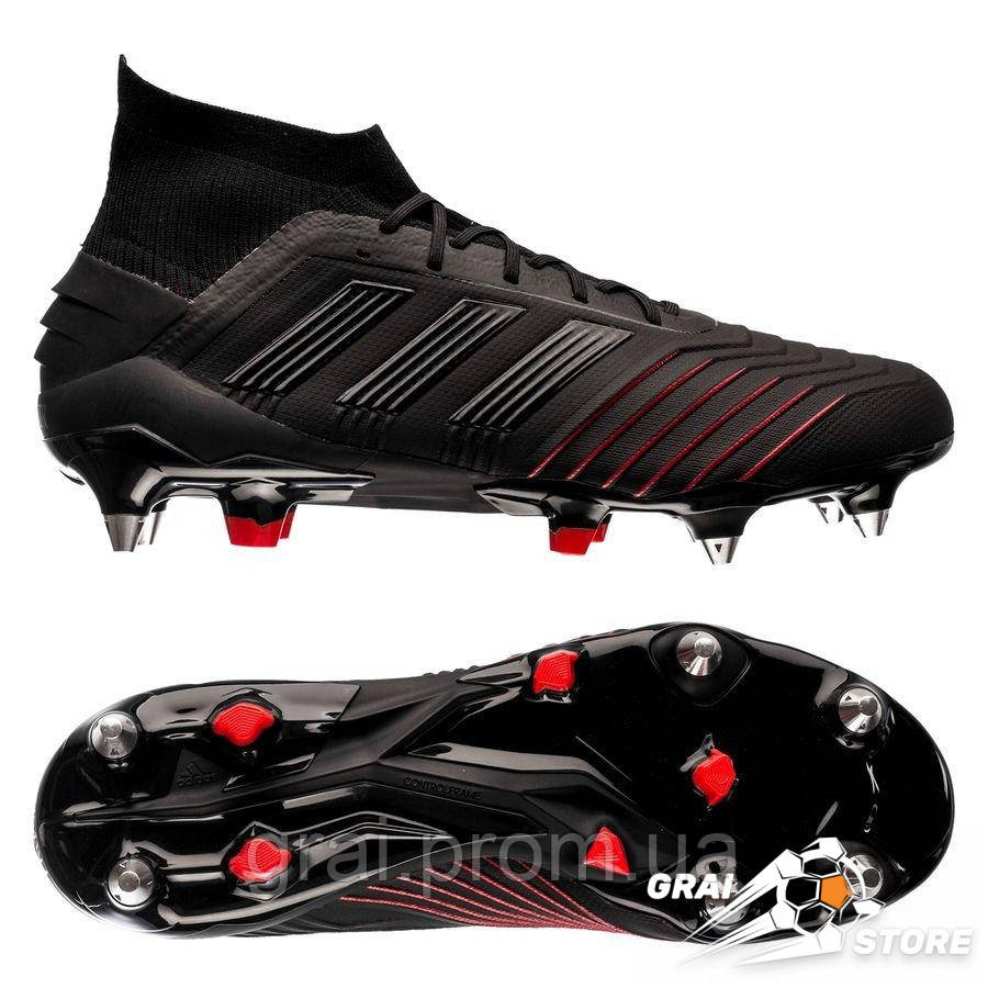 736a51b6 Бутсы adidas Predator 19.1 SG Black/Red - Интернет магазин Грай в Киеве