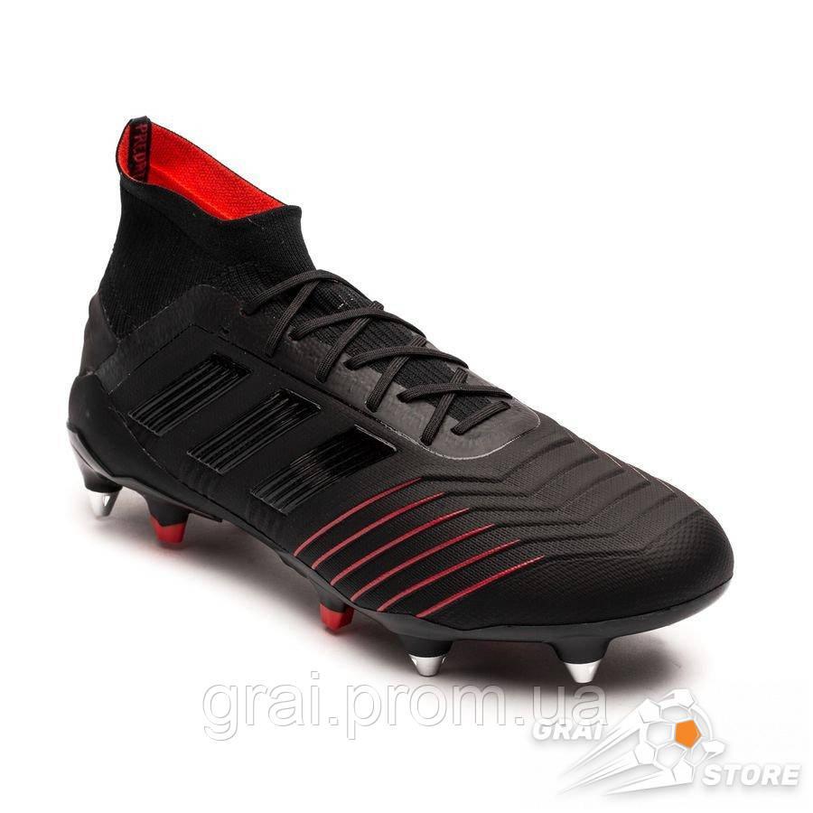 98d26ead Бутсы adidas Predator 19.1 SG Black/Red, цена 4 190 грн., купить в Киеве —  Prom.ua (ID#912035910)