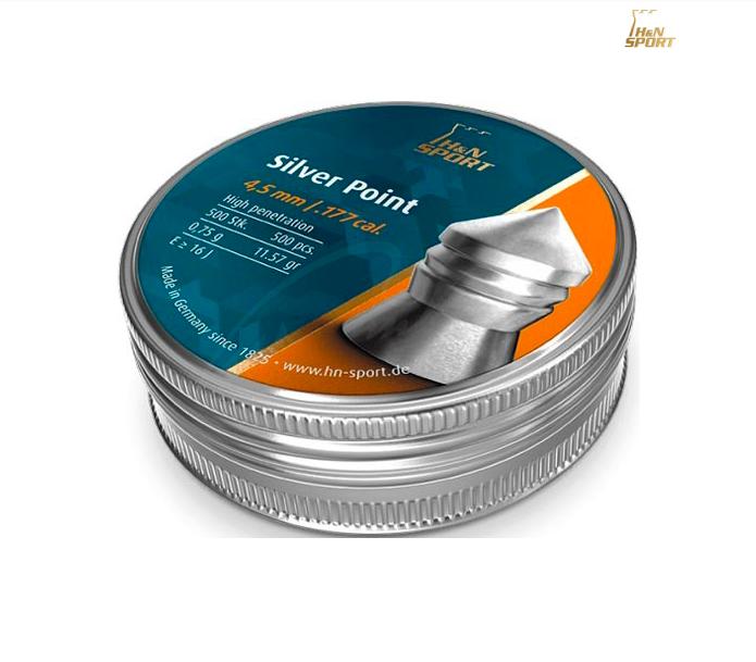 Пули пневматические H&N Silver Point 4.5мм 0.75г 500шт