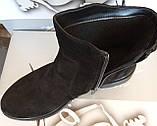 Ботинки демисезонные из натуральной замши на низком ходу от производителя модель СВ17-365, фото 3
