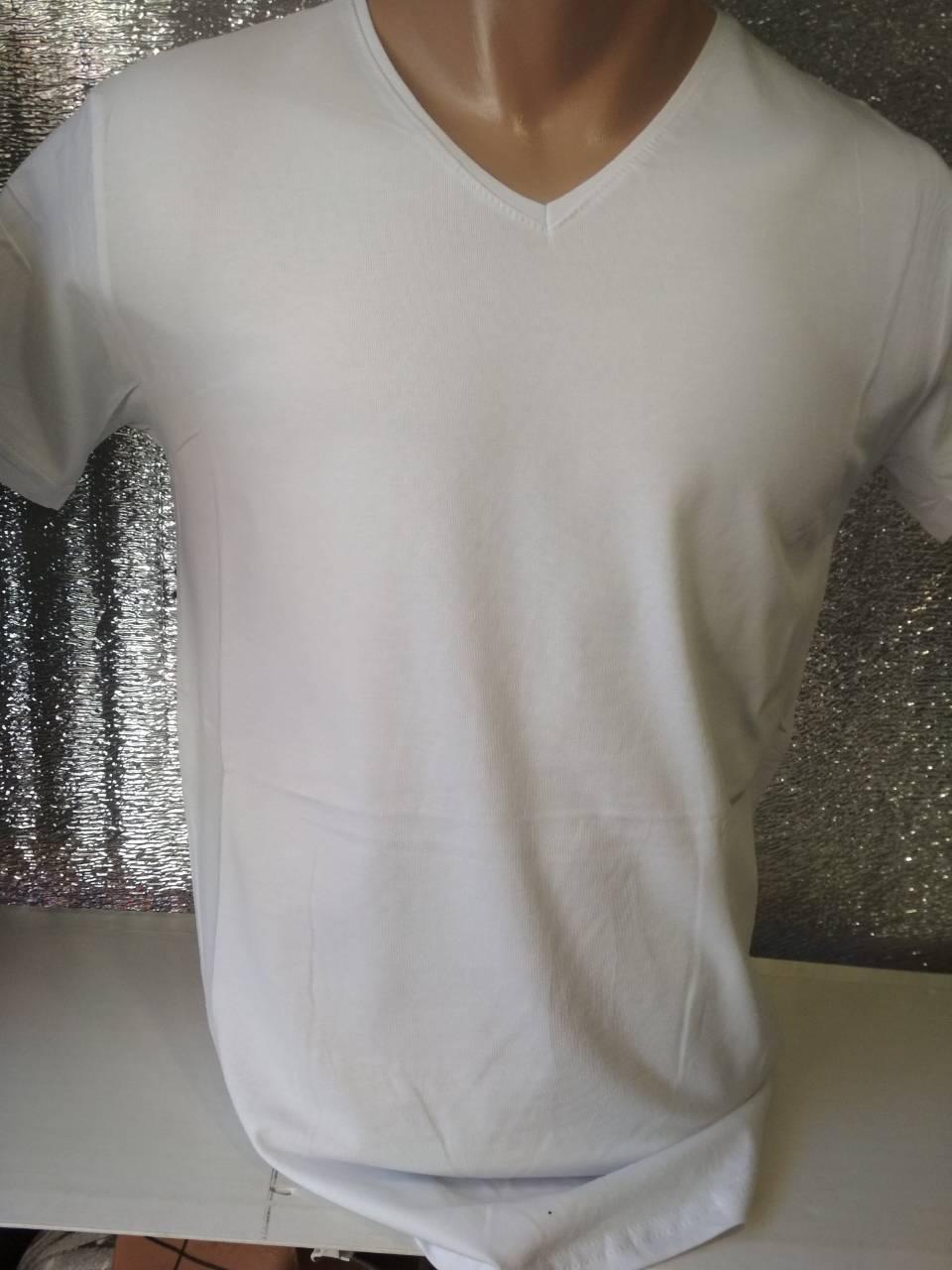 Мужская футболка CLASSIC Турция ОПТ белая