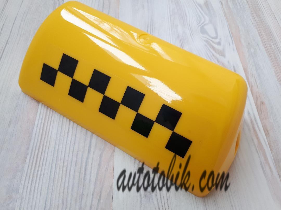 Стекло шашки такси, желтое