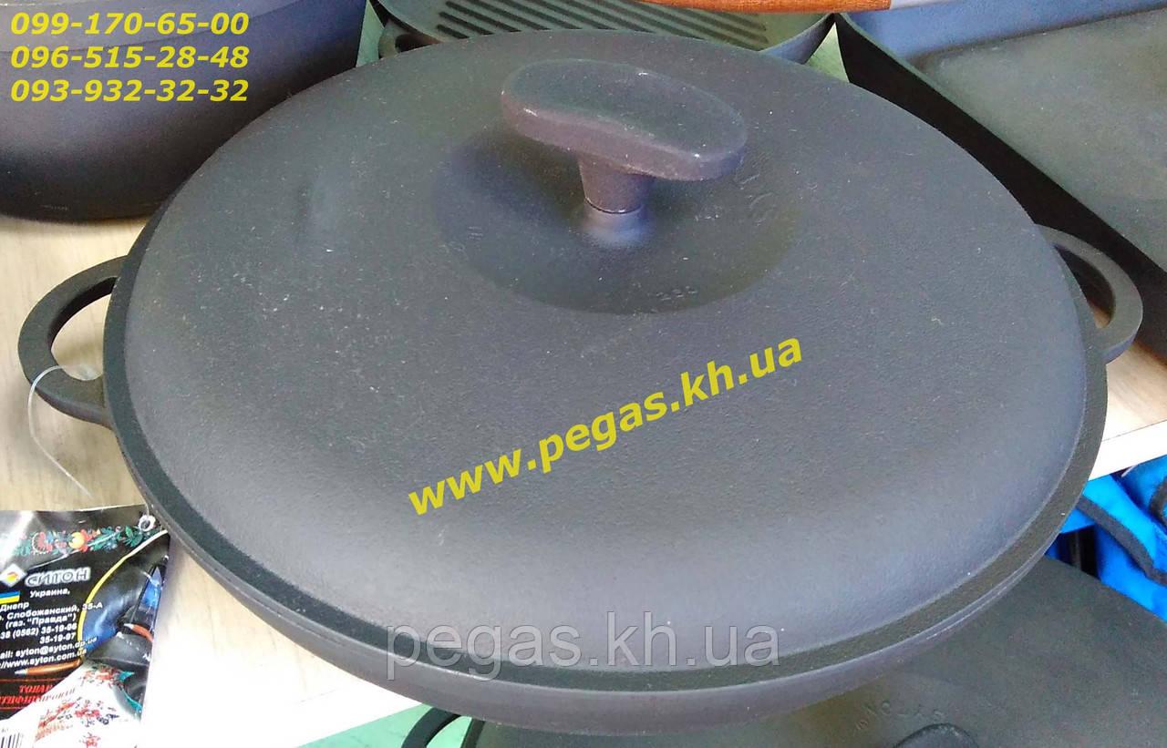 Сковорода гриль чугунная с чугунной крышкой 260х40 печи, барбекю, мангал