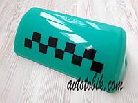 Стекло шашки такси, зеленое, фото 1