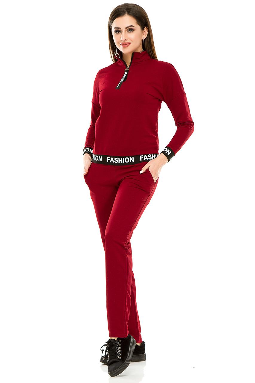 Спортивный костюм 470  бордо