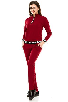 Спортивный костюм 470  бордо, фото 2