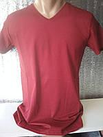 Мужская футболка CLASSIC Турция ОПТ темно-красный