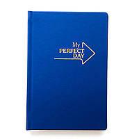 Недатированный блокнот-ежедневник Active My perfect day (синий-золото)