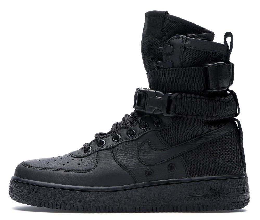 0280ef42 Мужские кроссовки Nike Air Force 1 SF Triple Black (найк аир форс 1 спешл  филд