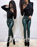 Лосины стильные, цвет зеленый, 1113-004