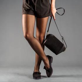 Балетки туфли замшевые на низком ходу женские летние размер 36-41 черные