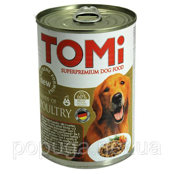 Консервы для собак TOMi 3 ВИДА ПТИЦЫ, 1,2 кг