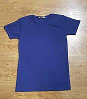 Мужская футболка стильная классика Турция ОПТ сливовый