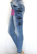 Жіночі джинси занижена посадка з стразами , фото 3