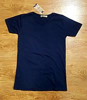 Мужская футболка стильная классика Турция ОПТ синяя
