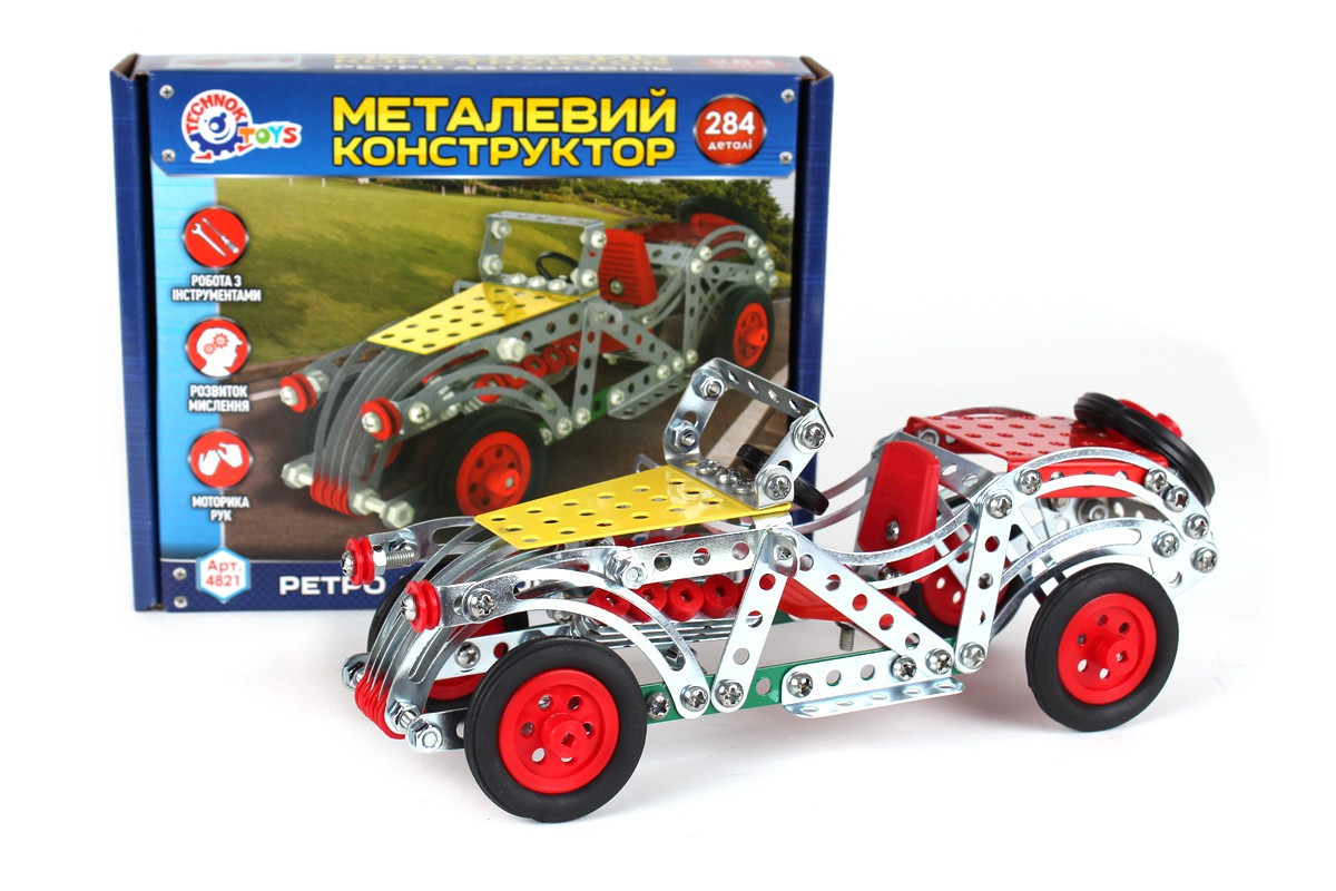 """Конструктор металлический """"Ретро Авто"""" Технок 4821"""