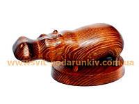 Статуэтка Бегемот, оригинальный сувенир из дерева