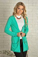 Модный женский кардиган свободного кроя 916 Зеленый