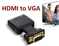 HDMI to VGA +Audio + питание конвертер адаптер переходник