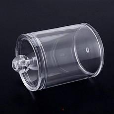 Подставка для ватных палочек 2194 цилиндр с крышкой, фото 3