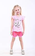Костюм для девочек летний футболка и шорты, фото 1