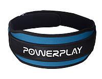 Пояс атлетический PowerPlay black/blue неопреновый