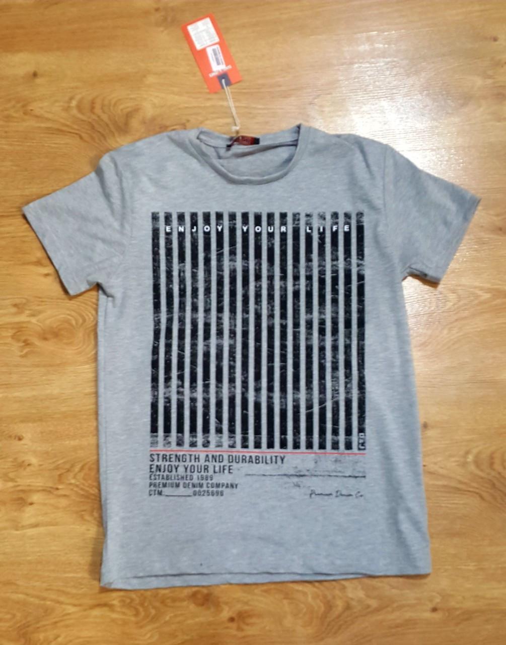 Футболка Мужская barcode Турция ОПТ серая