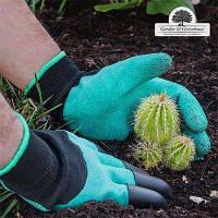Перчатки садовые с когтями Garden Gloves для сада и огорода, фото 1