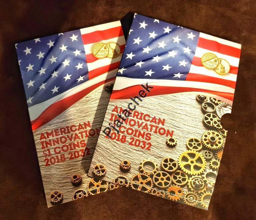 Альбом 1 доллар США Американские инновации и достижения капсульный
