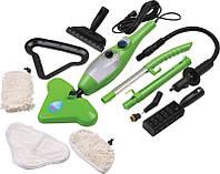 Паровая швабра мощный пароочиститель H2O Mop X5 1400W Зеленый 0617, КОД: 105231