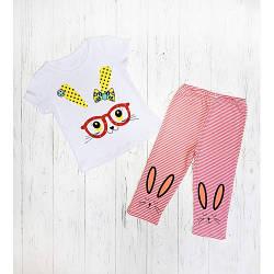 Летний комплект для девочки футболка и бриджи опт