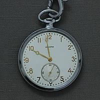 Искра карманные механические часы СССР , фото 1