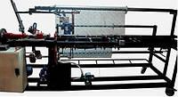 Станок автомат для сетки рабицы СА-2х2 с двухсторонней загибкой края сетки