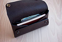 """Тревел-кейс кошелек, портмоне """"tour"""" ручної роботи, натуральна шкіра, на кнопці"""