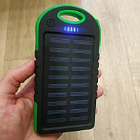 Power Bank Solar Samsung Charger 20 700 mAh Солнечное зарядное повер банк внешний аккумулятор Самсунг зеленый, фото 1