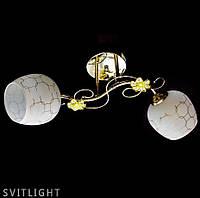 Люстра потолочная на два плафона 6037/2 R Svitlight