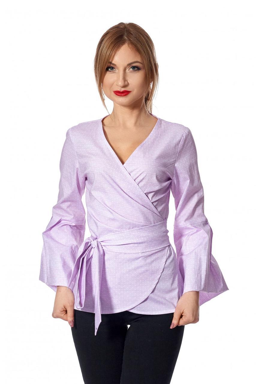 Элегантная женская рубашка розового цвета