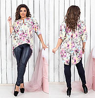 Женская блузка-туника.Размеры:48-52,54-58.