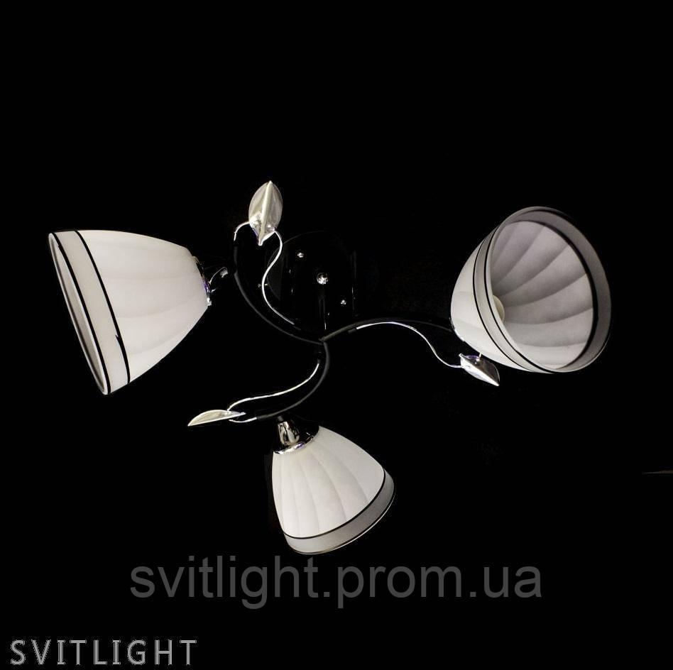 Люстра потолочная на 3 плафона A2855/3 BK/CH N Svitlight