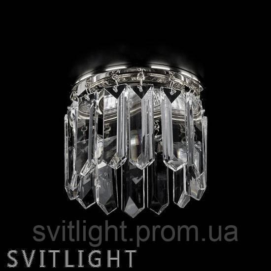 Хрустальный точечный светильник встраиваемый SPOT 21 NICKEL CE Artglass