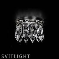 Точечный хрустальный светильник встраиваемый SPOT 81 NICKEL CE Artglass