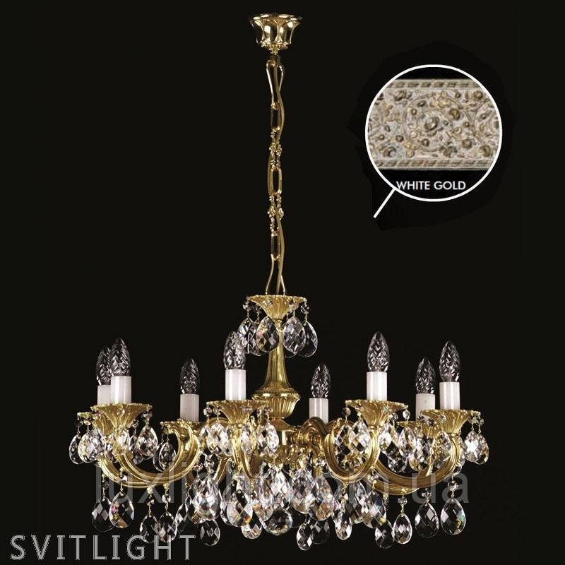 Люстра хрустальная ALICE VIII. WHITE GOLD CE Artglass