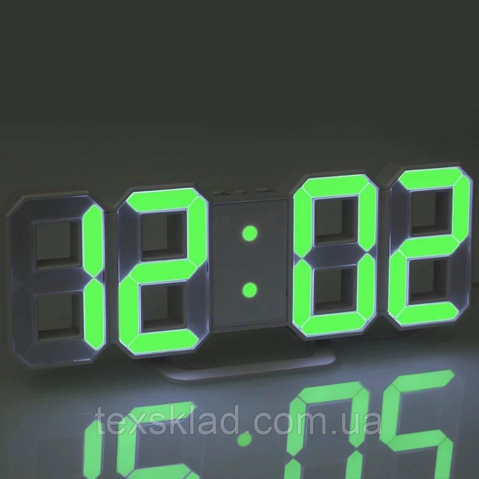 Электронный часы EL-6609 green (22.5x8см)