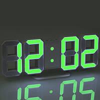 Електронний годинник EL-6609 green (22.5х8см)