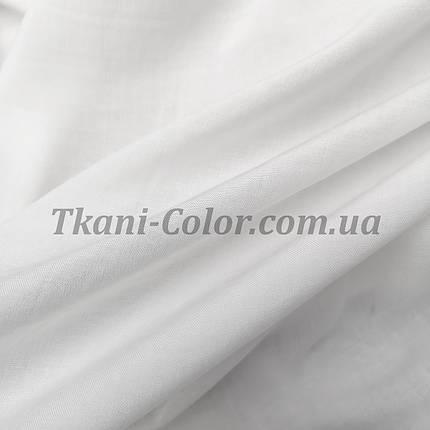 Тканина штапель білий, фото 2
