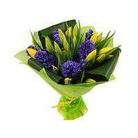 Букет из тюльпанов и гиацинтов 2