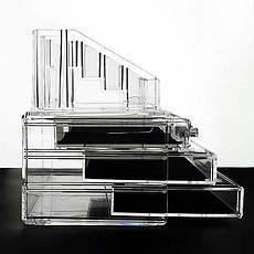 Подставка для косметики 0811 2в1 комод с 3 ящиками и подставкой, фото 3